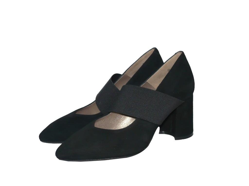 MELLUSO R35727 moro scarpe donna comfort elastici zeppa camoscio