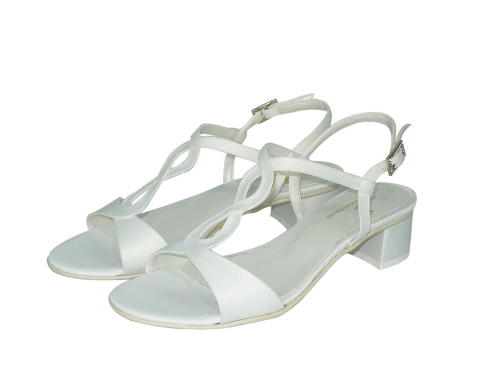 Scarpe Sposa Tacco Quadrato.Sandalo Sposa Con Tacco Basso Sandra Calzature