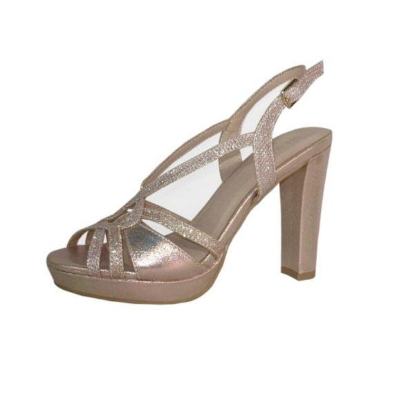 Menbur sandali eleganti a tacco alto glitter | Grimandi
