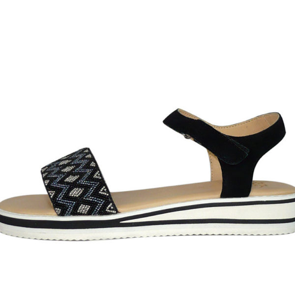 Sandalo donna basso grigio o nero numeri 42 43 Ara Sandra